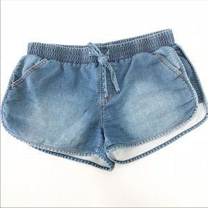 Mossimo Chambray Super Stretch Soft Shorts Sz L